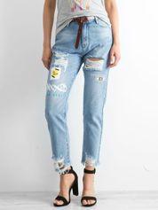Jasnoniebieskie spodnie Broken