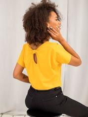 Jasnopomarańczowy bawełniany t-shirt