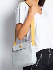 Jasnoszara torebka na ramię
