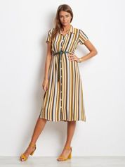 Jasnożółta sukienka Stripes