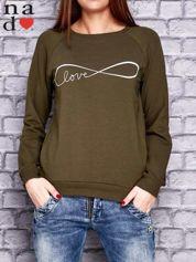 Khaki bluza z napisem LOVE