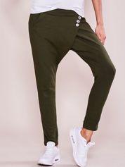 Khaki damskie spodnie dresowe