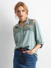 Khaki koszula z długim rękawem