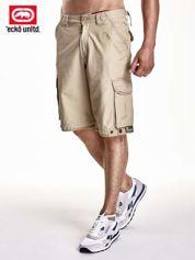 Khaki szorty męskie z kieszeniami
