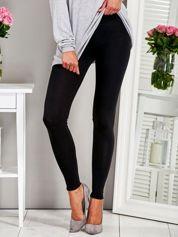 Klasyczne dopasowane legginsy czarne