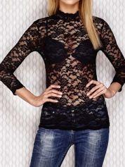 Koronkowa bluzka czarna