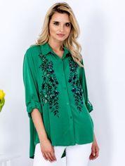 Koszula zielona z kwiatowym nadrukiem