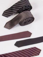 Krawat męski we wzory 5-pak wielokolorowy