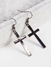 LOLITA Kolczyki damskie Krzyże czarne 4 cm