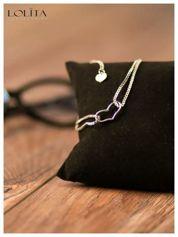 LOLITA Romantyczna SERCE x2 bransoletka dla wrażliwych piękna delikatna