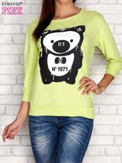 Limonkowa bluza z nadrukiem pandy