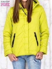 Butik Limonkowa przejściowa kurtka puchowa z dłuższym tyłem