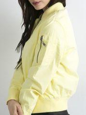 Materiałowa krótka kurtka żółta