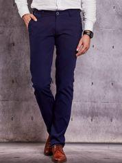 Męskie spodnie materiałowe granatowe