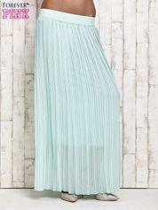 Miętowa spódnica maxi w plisy
