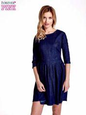 Niebieska denimowa sukienka