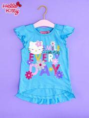Niebieska tunika dla dziewczynki z falbankami HELLO KITTY