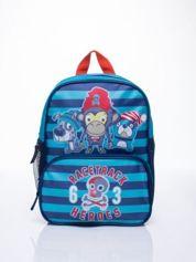 Niebieski plecak szkolny DISNEY w paski