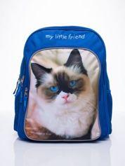 Niebieski plecak szkolny DISNEY z kotem