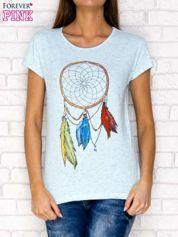 Niebieski t-shirt z łapaczem snów