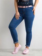Niebieskie spodnie jeansy PLUS SIZE
