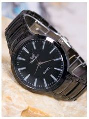 ORLANDO Klasyczny czarny męski zegarek na bransolecie