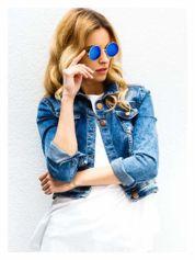 PONADCZASOWE okulary przeciwsłoneczne zielono-niebieskie lustrzanki LENONKI