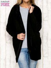 Płaszcz dresowy otwarty czarny