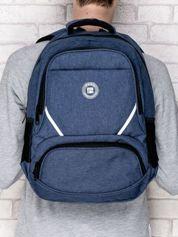 Plecak szkolny gładki z okrągłym logo