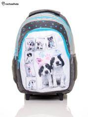 Plecak szkolny na kółkach z nadrukiem psów