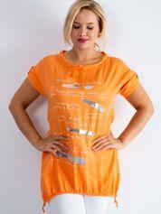 Pomarańczowa tunika Written PLUS SIZE