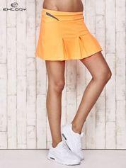 Pomarańczowe spodenki spódniczka tenisowa z szarymi wstawkami