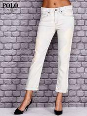 RALPH LAUREN Jasnoniebieskie przecierane spodnie boyfriend jeans