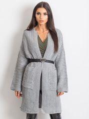 RUE PARIS Jasnoszary sweter Luna