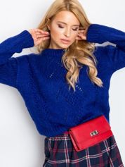 RUE PARIS Kobaltowy sweter Victoria