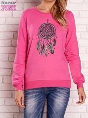 Różowa bluza z nadrukiem łapacza snów