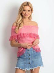 Różowa bluzka Having