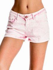 Różowe jeansowe szorty