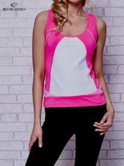 Różowy top sportowy na fitness