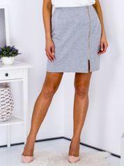 Spódnica dresowa szara z suwakiem