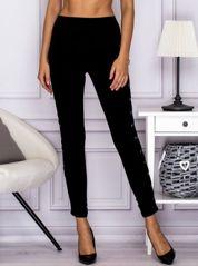 Spodnie dresowe z lampasami lace up czarne