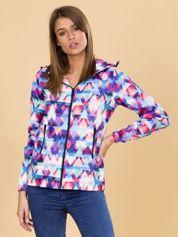 Sportowa kurtka w kolorowe wzory