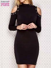 Sukienka cut out z napami czarna