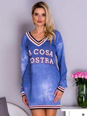 Sukienka damska LA COSA NOSTRA niebieska