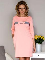 Sukienka damska z kokardką różowa