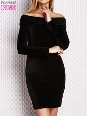 Sukienka z hiszpańskim dekoltem czarna