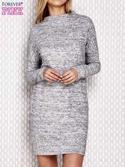 Sukienka z półgolfem jasnoszara melanżowa