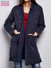 Sweter oversize ciemnoniebieski