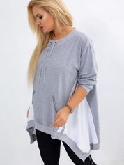 Szara bluza plus size Later