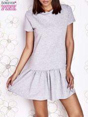 Szara dresowa sukienka z wycięciem na plecach